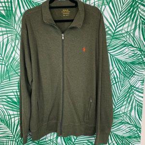 Polo Ralph Lauren men's full zip ribbed sweater
